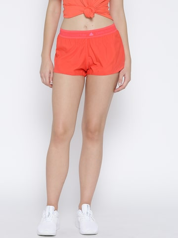 Stella McCartney by Adidas Women Coral Red ADZ Solid Running Shorts at myntra