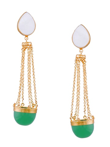 Sia Art Jewellery Gold-Toned Geometric Drop Earrings at myntra