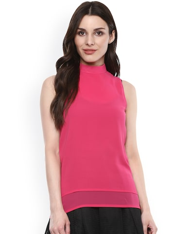 Citrine Women Pink Solid Top at myntra