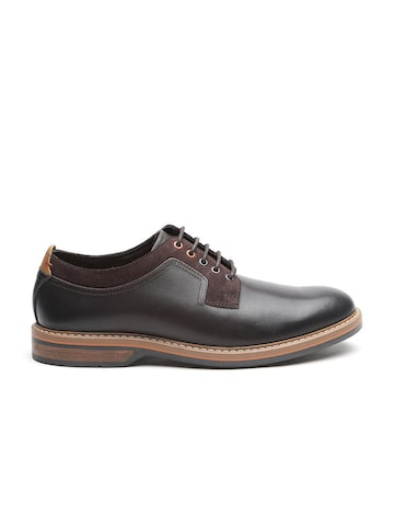 Clarks Men Coffee Brown Leather Derbys Clarks Casual Shoes at myntra