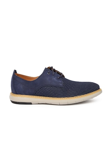 Clarks Men Navy Blue Flexton Sport Derbys at myntra