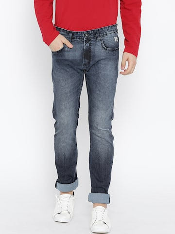 Pepe Jeans Men Navy Regular Fit Mid-Rise Clean Look Stretchable Jeans Pepe Jeans Jeans at myntra