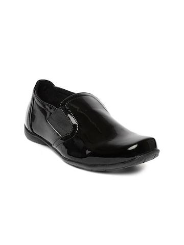 Catwalk Women Black Slip-On Sneakers at myntra