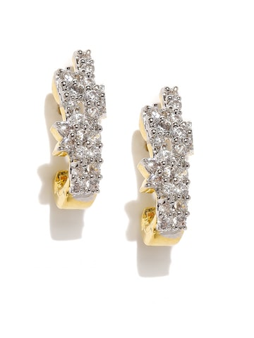 Zaveri Pearls Gold-Plated Floral Studs at myntra