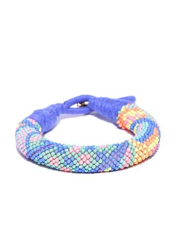 Accessorize Blue & Orange Beaded Bracelet at myntra