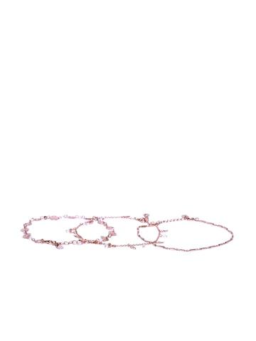 Accessorize Set of 3 Gold-Toned Bracelets at myntra