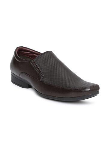 Bata Men Coffee Brown Carter Semiformal Slip-On Shoes at myntra