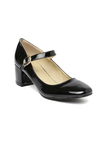 Addons Women Black Solid Pumps at myntra