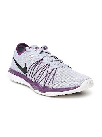 Nike Women Grey DUAL FUSION TR HIT Training Shoes Nike Sports Shoes at myntra