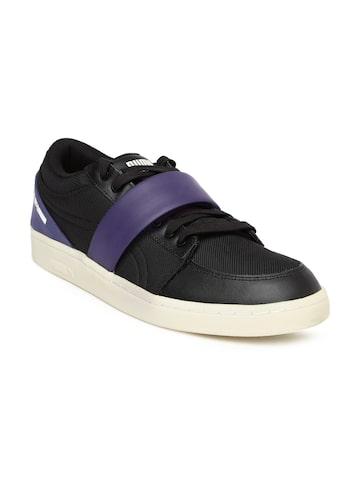 Puma Unisex Black MCQ SERVE LO NU Sneakers at myntra