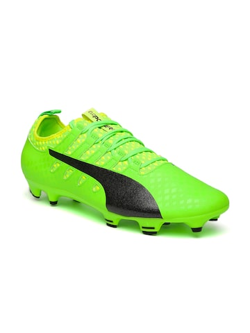 Puma Men Fluorescent Green Evopower Vigor 2 Football Shoes Puma Sports Shoes at myntra