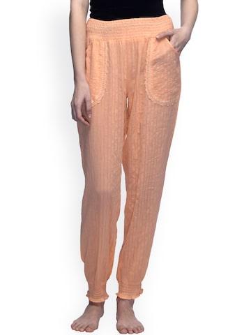 Oxolloxo Peach Nightwear Pyjama S17113WNW003 at myntra