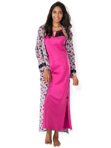 PrettySecrets Pink Nightdress NW0030 at myntra