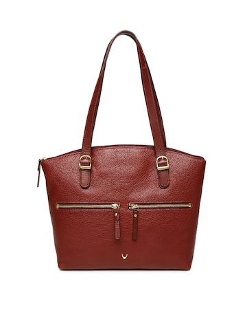 Hidesign Maroon Solid Shoulder Bag at myntra