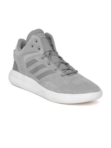 Adidas NEO Men Grey CF REVIVAL Suede Sneakers Adidas NEO Casual Shoes at myntra