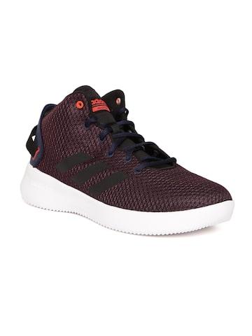 Adidas NEO Men Navy & Maroon CF REFRESH Solid Sneakers Adidas NEO Casual Shoes at myntra