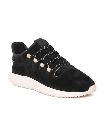 Adidas Originals Men Black Tubular Shadow Leather Sneakers Adidas Originals Casual Shoes at myntra