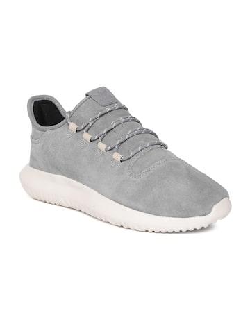 Adidas Originals Men Grey Tubular Shadow Leather Sneakers Adidas Originals Casual Shoes at myntra