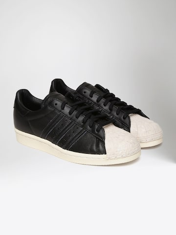 Adidas Originals Women Black Superstar 80S Cork Leather Sneakers Adidas Originals Casual Shoes at myntra
