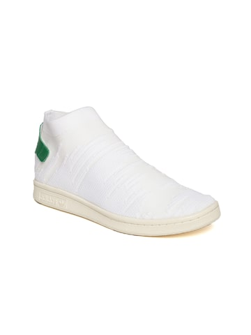 Adidas Originals Women White Stan Smith Sock PK Patterned Slip-Ons Adidas Originals Casual Shoes at myntra
