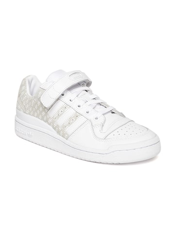 Adidas Originals Women White FORUM Leather Sneakers Adidas Originals Casual Shoes at myntra