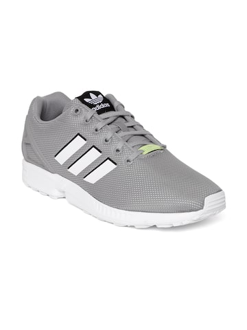 Adidas Originals Men Grey ZX FLUX Sneakers at myntra