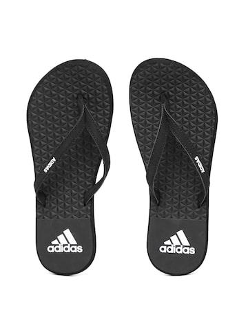 Adidas Women Black EEZAY SOFT Textured Flip-Flops Adidas Flip Flops at myntra