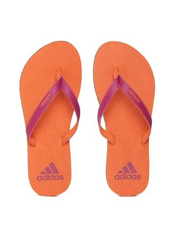 Adidas Women Magenta & Orange Puka Flip-Flops Adidas Flip Flops at myntra