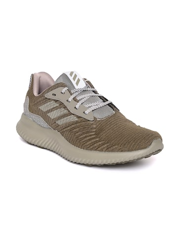 Adidas Men Olive Green Alphabounce RC Running Shoes Adidas Sports Shoes at myntra
