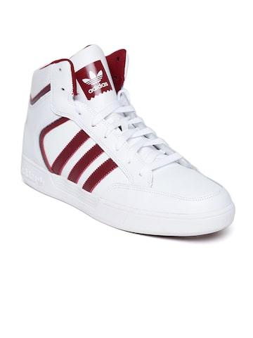 Adidas Originals Men White Varial Mid Skateboarding Shoes at myntra