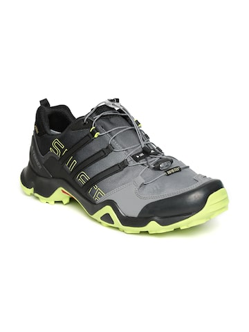 Adidas Men Black & Grey Terrex Swift R GTX Trekking Shoes at myntra