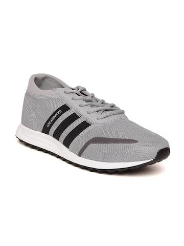 Adidas Originals Men Grey Los Angeles Sneakers at myntra