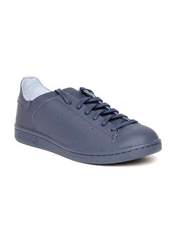 Adidas Originals Men Navy Stan Smith Lea Sock Leather Sneakers at myntra