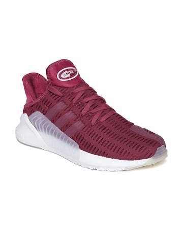 Adidas Originals Men Maroon ClimaCool Sneakers at myntra