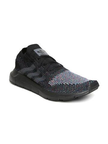 Adidas Originals Men Black Swift Run PK Sneakers at myntra