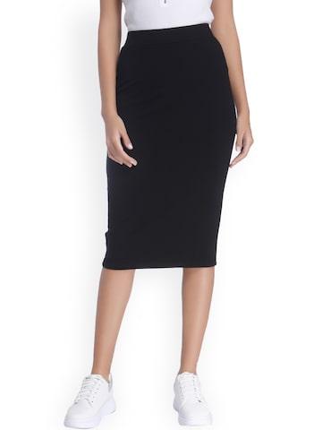 Vero Moda Black Pencil Skirt at myntra