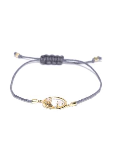 Accessorize Blue Gold-Plated Semi-Precious Stone-Studded Bracelet Accessorize Bracelet at myntra