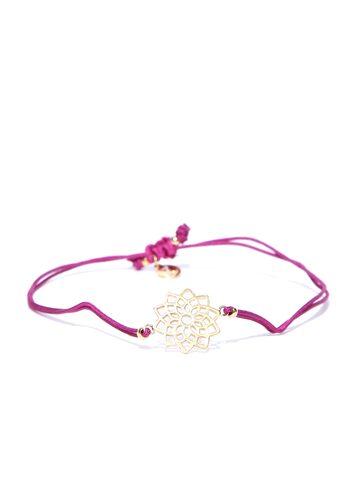 Accessorize Purple Gold-Plated Dual-Stranded Bracelet Accessorize Bracelet at myntra