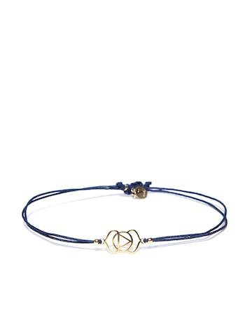 Accessorize Navy Gold-Plated Dual-Stranded Bracelet Accessorize Bracelet at myntra