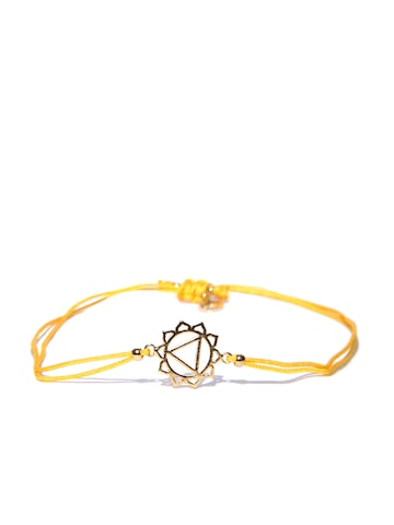 Accessorize Yellow Gold-Plated Dual-Stranded Bracelet Accessorize Bracelet at myntra