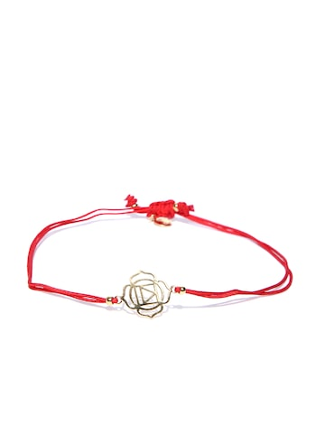 Accessorize Red Gold-Plated Dual-Stranded Bracelet at myntra