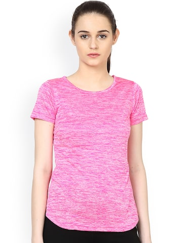 plusS Women Pink Round Neck T-shirt at myntra