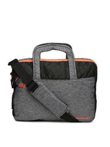Wildcraft Unisex Grey & Black Colourblocked Laptop Bag at myntra