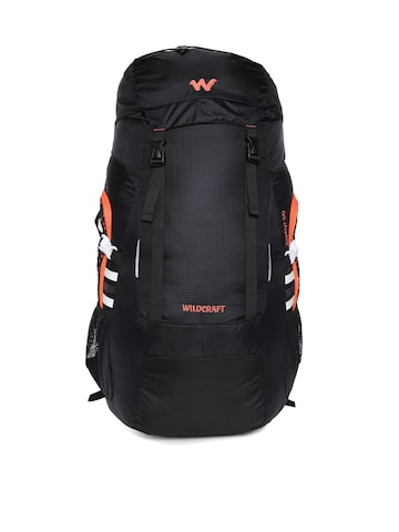 Wildcraft Unisex Black Zephyr 50 Rucksack at myntra