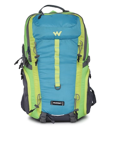 Wildcraft Unisex Blue & Green Colourblock Daypack 35 Rucksack at myntra