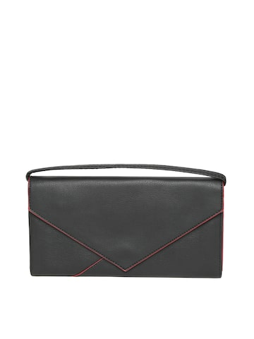 Baggit Women Black Solid Wallet at myntra