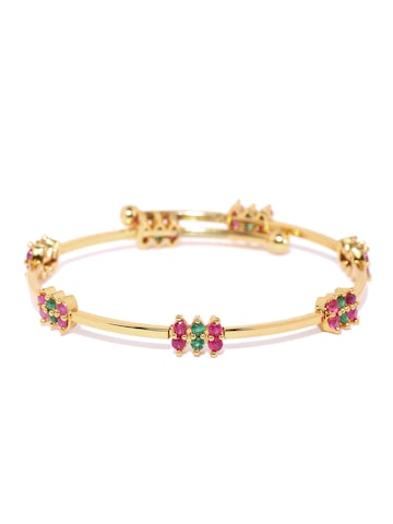 Zaveri Pearls Gold-Toned Stone-Studded Bracelet at myntra