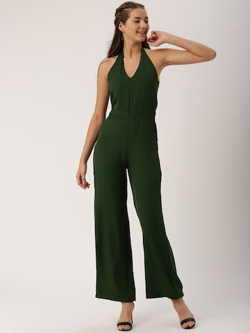 DressBerry Olive Green Jumpsuit at myntra