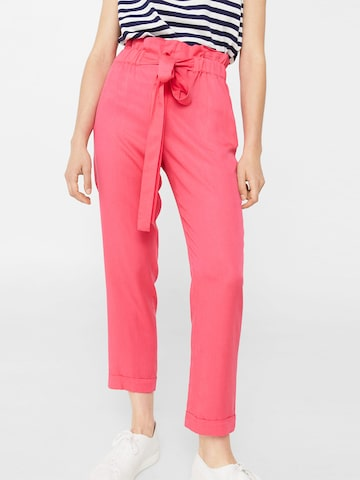 MANGO Women Pink Solid Peg Trousers at myntra