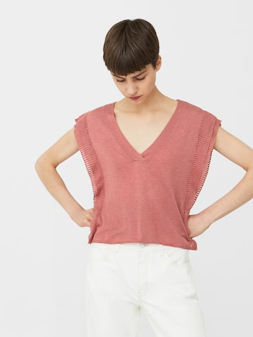MANGO Women Dusty Pink Solid Top MANGO Tops at myntra